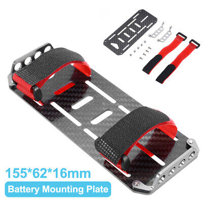 Carbon Fiber Battery Mounting Plate Tray For 1/10 RC Car Axial SCX10 CC01 NEW • 7.99£