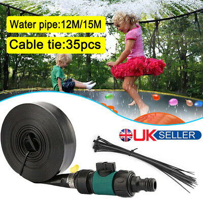 12/15M Trampoline Sprinkler Spray Water Park Kids Fun Summer Outdoor Water Game • 8.99£