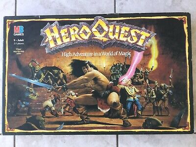 Hero Quest MB Board Game Incomplete • 55£