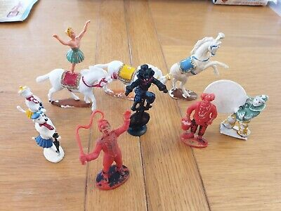 Charbens Circus Animals Performers Plastic Figures X10 Job Lot • 26.01£