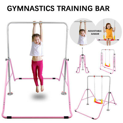 Gymnastics Bar Expandable Horizontal Training Bars For Children Kids Home Gym • 51.95£