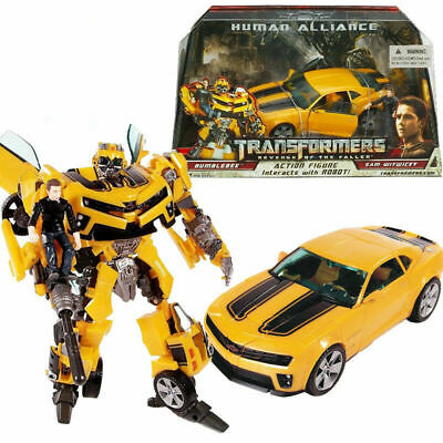 Transformers Bumblebee Human Alliance Sam Witwicky Robot Car Action Figures Toy  • 16£