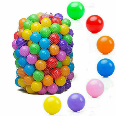 100x Plastic Pit Balls For Child Kids Multi Coloured Ocean Ball Toys Play Pool • 10.99£