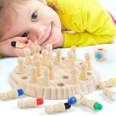 Kids Wooden Chess Memory Match Stick Puzzle Children Early Educational Game • 8.75£