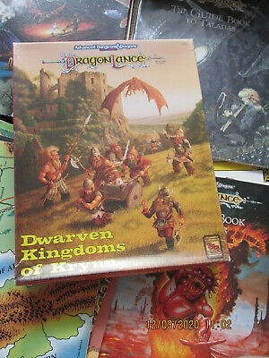 Tsr Ad&d Dragonlance Campaign Lot Dl + Maps Boxed  Advanced Dungeon Dragon • 5.99£