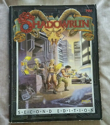 SHADOWRUN 2nd Edition FASA 7901 1992 Softcover Rulebook, Used Good Condition. • 17£