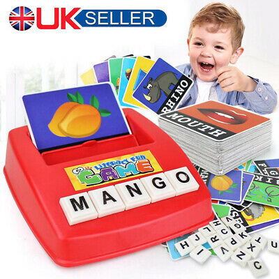 English Spelling Alphabet Letter Game Early Learning Educational Toy Kids UK • 5.99£