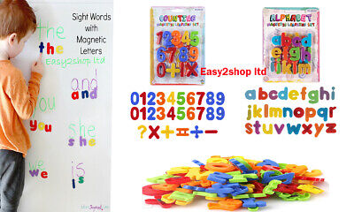 Kids Toy Magnetic Teaching Learning  - Letters & Numbers Fridge Magnets Alphabet • 4.99£