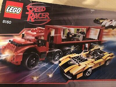 Lego Speed Racer 8160 - Red Truck & Yellow Car With Instructions • 8.99£