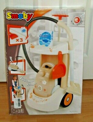 Smoby Cleaning Trolley With Vacuum Cleaner & Accessories Boxed Rrp £39.99  • 14.40£
