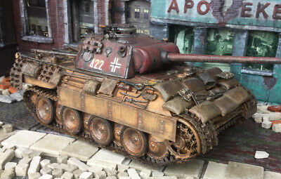 Built 1:35 Fully Loaded German Wwii Panzer V Panther Tank With Tons Of Stowage • 24.99£