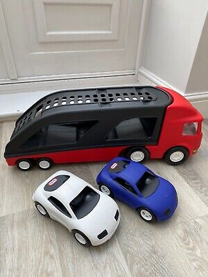 Little Tikes Car Transporter Complete Set With 2 Cars - Very Good Condition • 19.99£