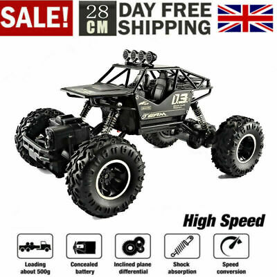 Remote Control RC Big Wheel Kids Toy Car Monster Truck 2.4 GHz Fast Speed New UK • 17.99£