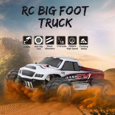 WLtoys A979-B 2.4G 1/18 RC Car 4WD 70KM/h High Speed Electric RTR Big Foot Truck • 63.99£