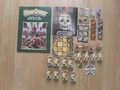 MB Hero Quest Expansion Return Of The Witch Lord 100% Nicely Painted Too • 44.95£