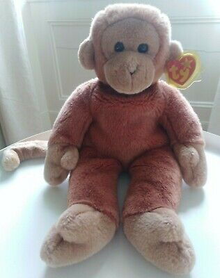 'Bongo' The Monkey, TY Beanie Buddy, Plush, 1998, Excellent Condition, With Tag • 0.99£
