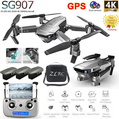 SG907 GPS Drone With 4K HD Dual Camera Wifi FPV Foldable RC Quadcopter Drone UK • 88.90£