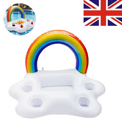 Inflatable Floating Drink Can Cup Holder Hot Tub Swimming Pool Beach Party • 7.99£