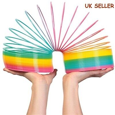 UK Children Giant Magic Rainbow Slinky Springy Indoor/Outdoor Colorful Classic • 6.59£