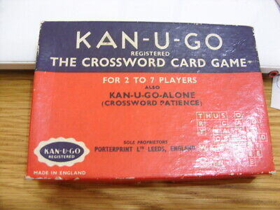VINTAGE Kan U Go Crossword Game-with Instructions-Excellent Condition-1959 Leeds • 9.99£