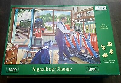 House Of Puzzles 1000 Piece Jigsaw 'Signalling Change' • 2£
