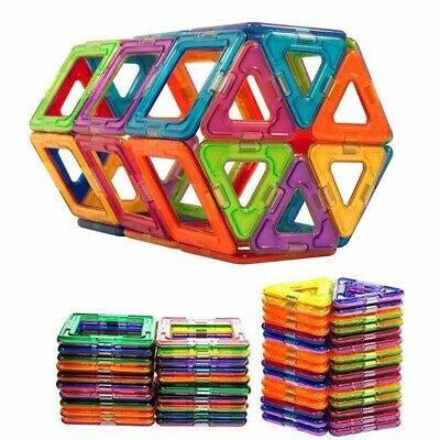 100X Mini Magnetic Building Blocks Construction For Kids Educational Toy Gift UK • 9.55£