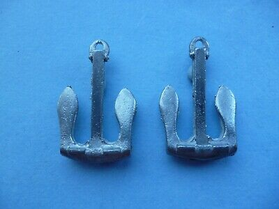 Model Boat Byers Anchor 37mm X2 Pcs ( My 3rd Best Seller) Metal.Like Robbe. • 2.85£