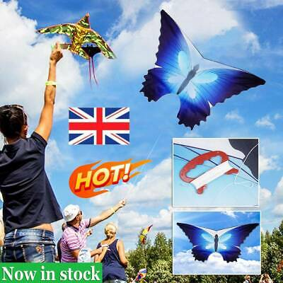 47  BEAUTIFUL BUTTERFLY SINGLE LINE KITE OUTDOOR SPORT TOY With 30M Kite Line UK • 6.47£