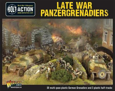 Bolt Action - Late War Panzergrenadiers (30 Plus 3 Hanomags) - Warlord Games NEW • 59.50£