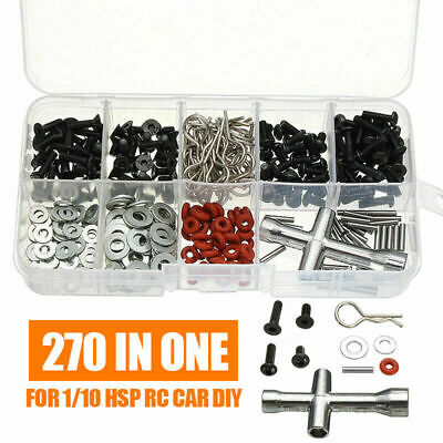 270pcs Special Repair Tool Screws Box Kits For 1/10 HSP RC Screw Car Accessories • 7.18£