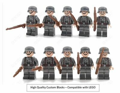 WW2 10 Minifigure - Custom Lego WWII Soldiers Troops German • 11.95£
