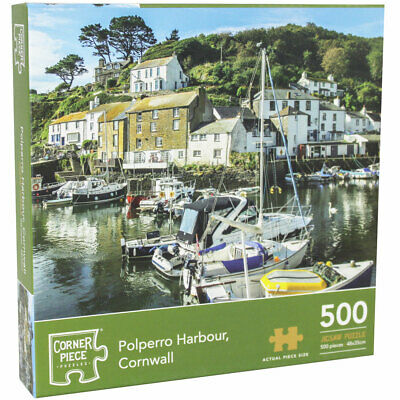 Polperro Harbour Cornwall 500 Piece Jigsaw Puzzle, Toys & Games, Brand New • 7£