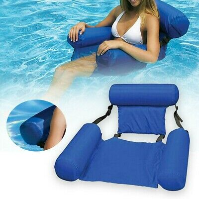 Inflatable Floating Water Hammock Float Pool Lounge Bed Swimming Chair Beach UK • 13.59£