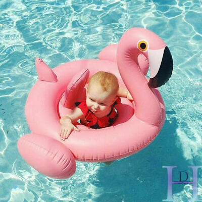 Inflatable Flamingo Swim Ring Float Raft Seat Swimming Pool For Kids Baby • 4.98£