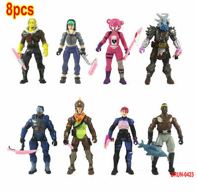 8pc/Set Fortnite Battle Royale Season 8 PVC Action Figure Display Playset Toy • 8.99£