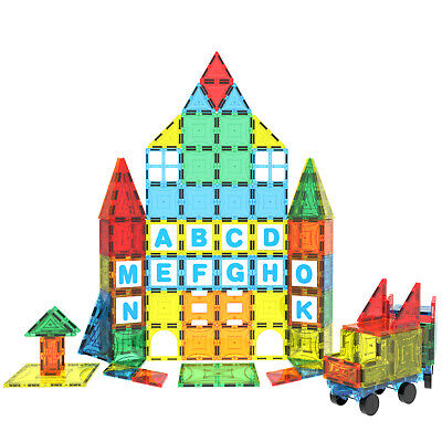 Magnet Building Tiles Magna Construction Blocks Puzzle Kids 3D Brain Cars Train • 26.99£