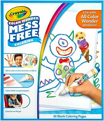 Crayola Color Wonder Drawing Paper-30 Sheets Mass Free Playing Time • 7.99£