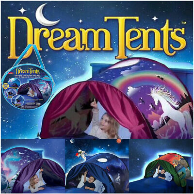 UK Kids Dream Tent Pop-up Foldable Bed Home Indoor Playhouse Birthday Xmas Gift • 11.99£