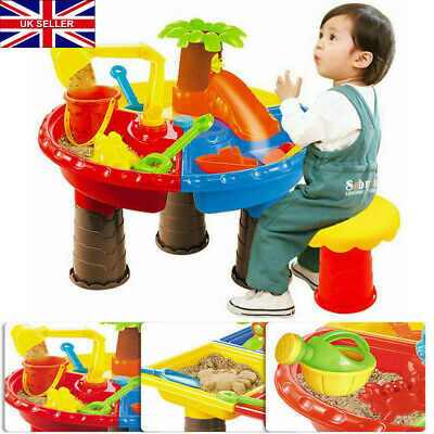 Sand And Water Table Sandpit Indoor Outdoor Beach Kids Children Play Toy Set UK • 10.38£