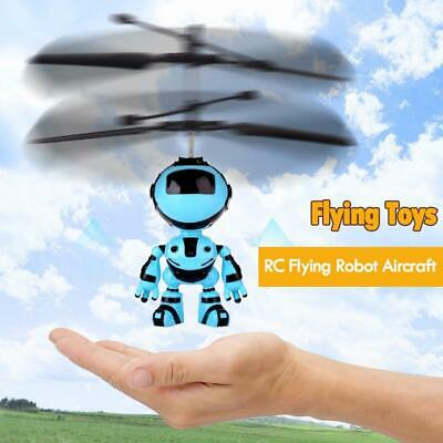 RC Hand Inductive Flying Robot Aircraft Infrared Induction Kids Light Toys • 6.61£