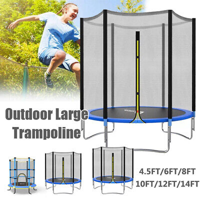 Trampoline With Safety Net Spring Cover Ladder Shoe Bag Rain Cover 6FT 8FT 10FT  • 109.99£