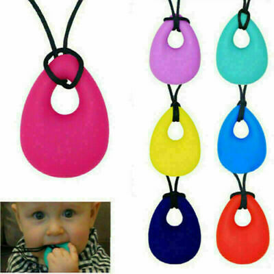 Kids Baby Chewy Necklace Anti Autism ADHD Biting Sensory Chew Teething Xmas Toys • 3.66£