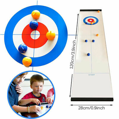 Family Curling Table Game Adult Training Kids Child Tabletop Ball Game Fun Toys • 8.95£