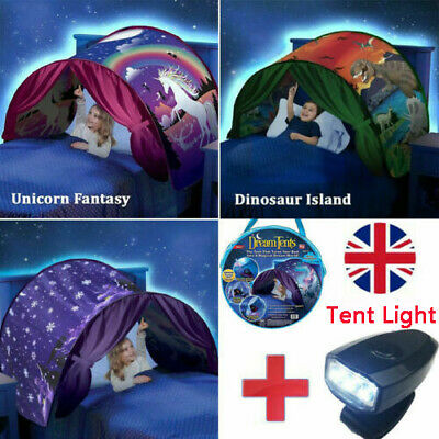 Dream Tents Kid House Unicorn Foldable Tent Pop Up Indoor Bed With Light Gift • 11.99£