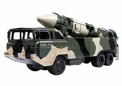 Military Missile Transport Army Truck Long Range Missile Toy Kids Combat Tank • 15.99£