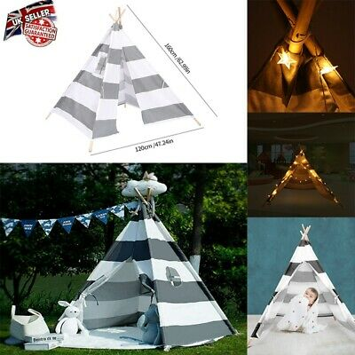 Large Kids Tent Teepee Children Indian Wigwam Outdoor Indoor Play House Canvas • 20.98£
