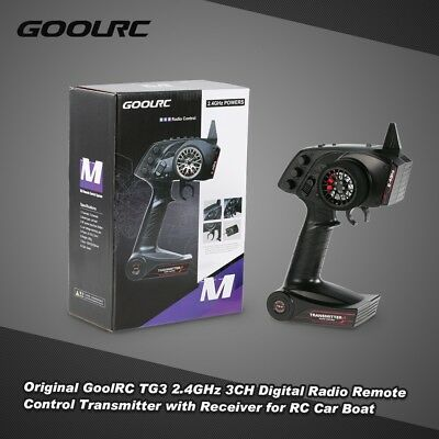 GoolRC TG3 2.4GHz 3CH Remote Control Transmitter With Receiver For RC Car Boat • 22.29£