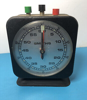 Vintage West German Smiths Timer Clock Full Working Condition Stop Watch Like • 30£