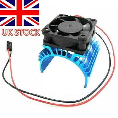 Heatsink Aluminum For 1:10 HSP RC Car 540 550 3650 Size Motor With Cooling Fan • 3.69£