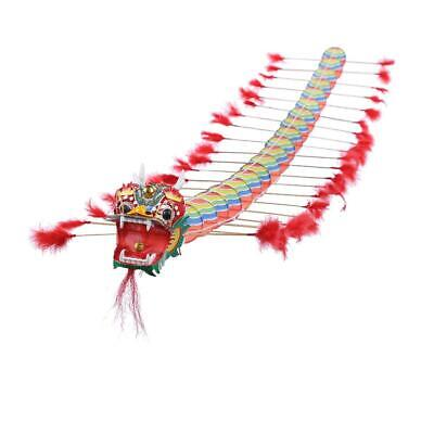 Chinese Traditional Dragon Kite Plastic Foldable Children Outdoors Toys • 14.38£